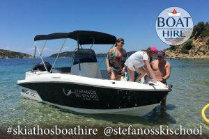 "Speed Boat 'Maria"" fr rent in Skiathos"