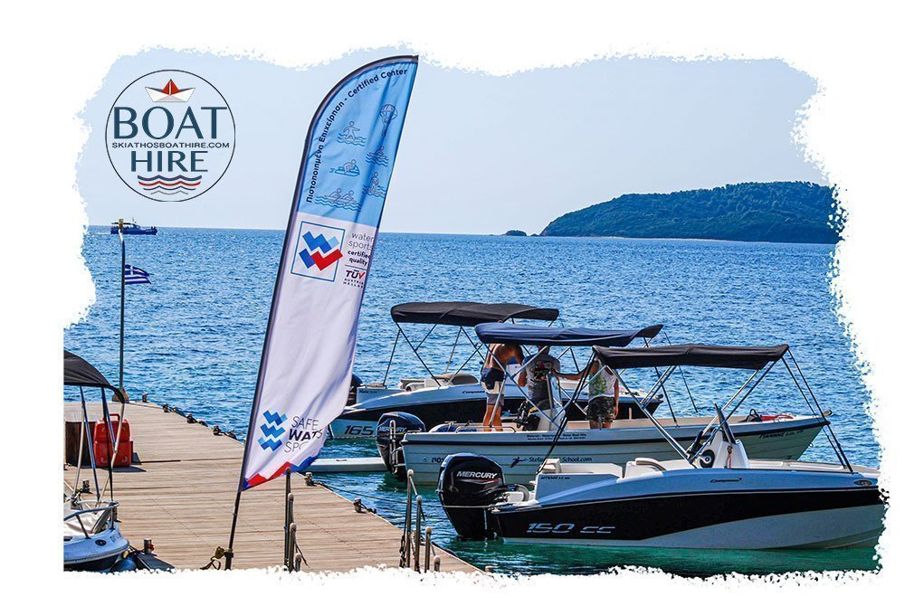 Skiathos Boat Hire , Boats ready on our floating platform