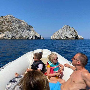 Boat trip arround Skiathos