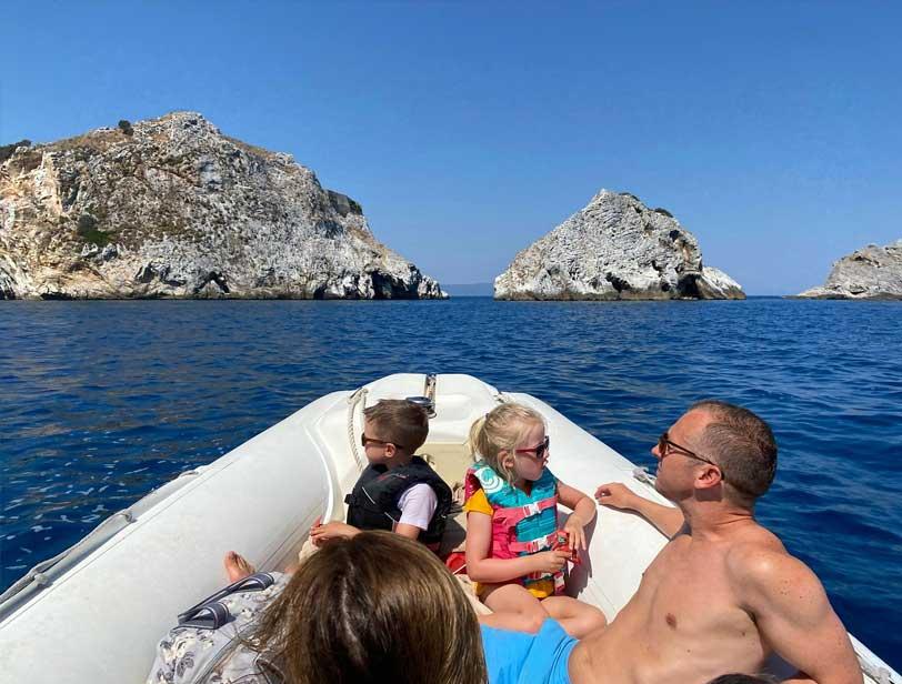 Boat trips arround Skiathos island and Skopelos