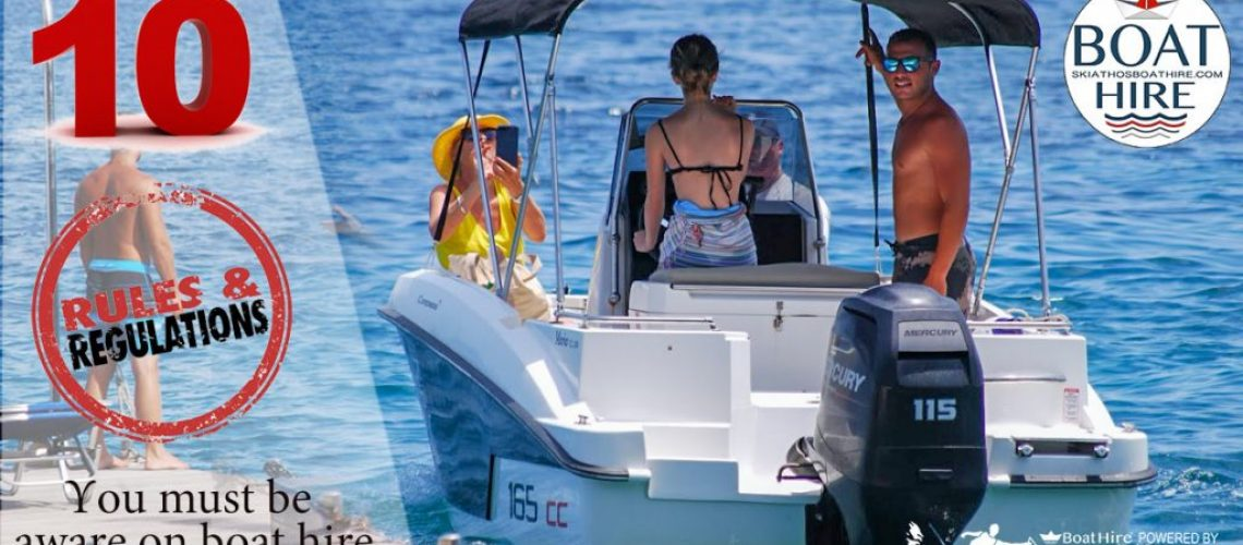 10 rules you should know about boat hire in Greece